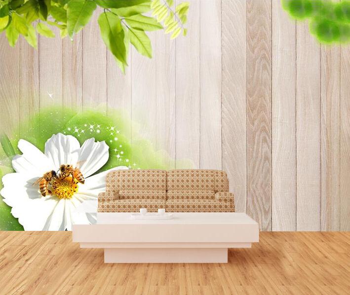 3D Foglie, fiori  Parete Murale Foto Carta da parati immagine sfondo muro stampa