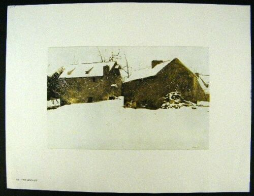 The Mill Andrew Wyeth Gravure Print MAGA/'S DAUGHTER /& THE GRANARY