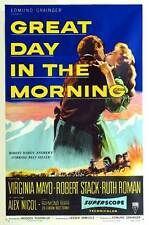 GREAT DAY IN THE MORNING Movie POSTER 27x40 Robert Stack Ruth Roman Raymond Burr