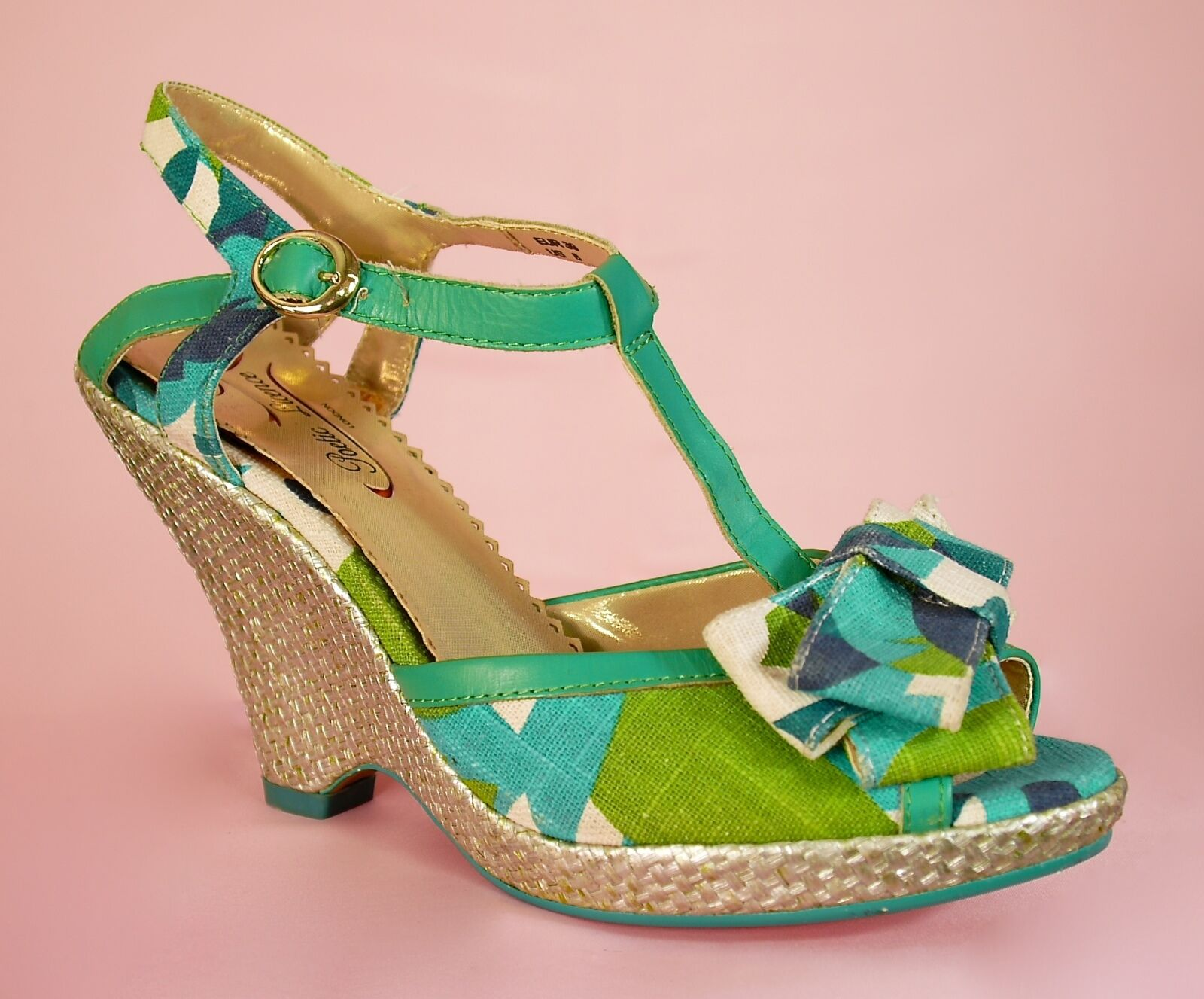Irregular Choice Poetic licence Behave Yourself Green ladies schuhe UK 3 / 36