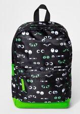 Cat & Jack Kids Backpack Black Green Google Eyes Backpack NEW   eBay