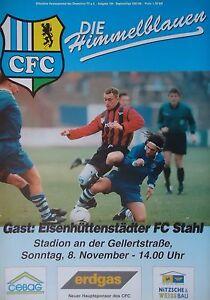 Programm 1997//98 Chemnitzer FC RW Erfurt