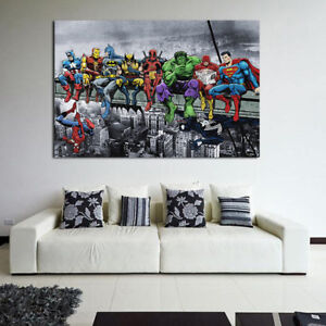 Details About Super Hero Canvas Print Painting Wall Art Poster Mural Living Room Home Decor AU
