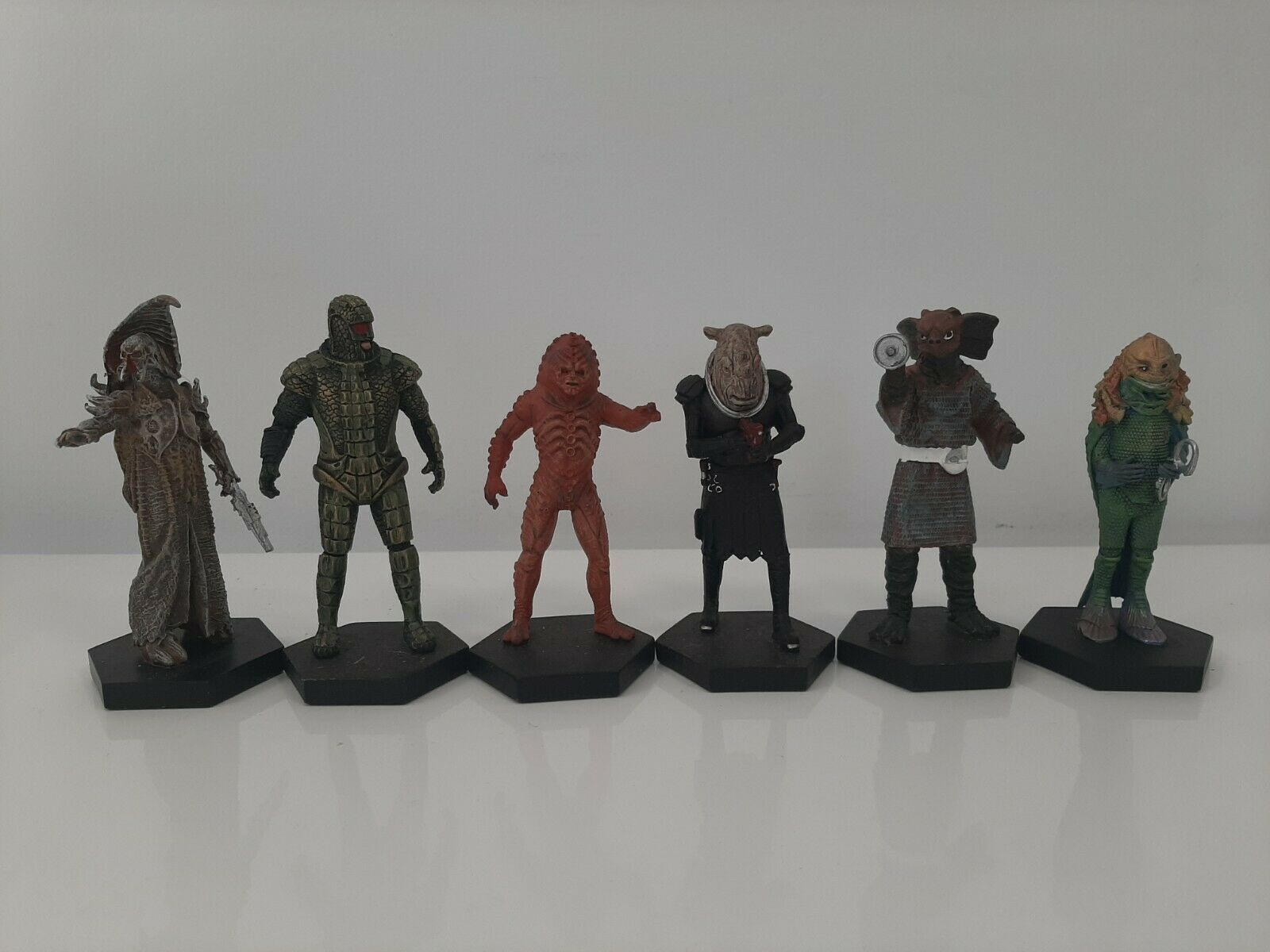 2012 Eaglemoss Dr Who Figurine Collection Lot of 6 Figures