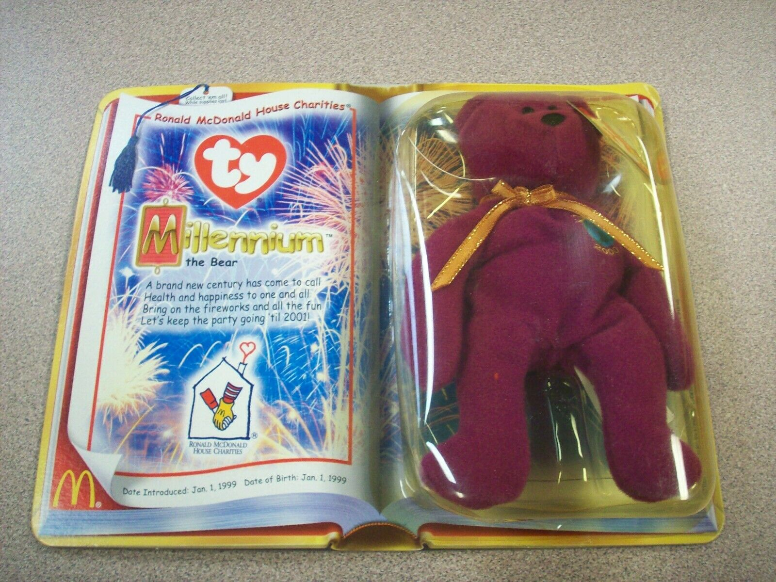 "Ty Ronald McDonald House Charities ""Millenium"" ""Millenium"" ""Millenium"" the Bear 774f2e"