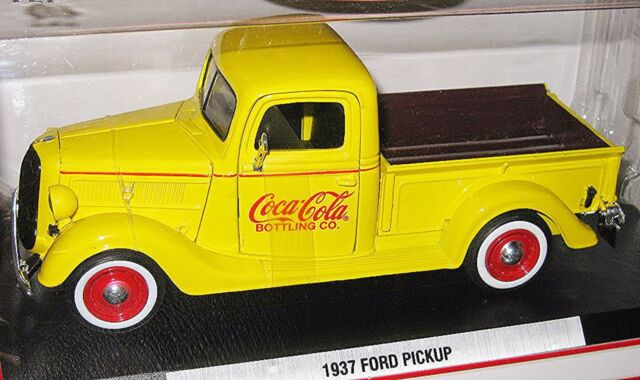 COCA COLA 1937 FORD PICK UP ~1:24 SCALE ~ YELLOW