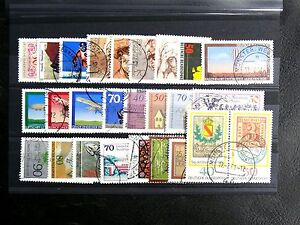 TIMBRES-D-039-ALLEMAGNE-RFA-1978-ANNEE-COMPLETE-Oblitere-N-802-a-840-2-BLOCS-FE