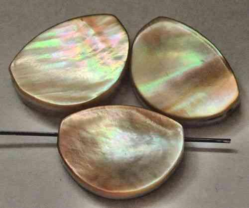 7804-3 nacre bijoux pièces 17x12 mm longitudinal percés