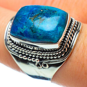 Chrysocolla 925 Sterling Silver Ring Size 8.25 Ana Co Jewelry R32517