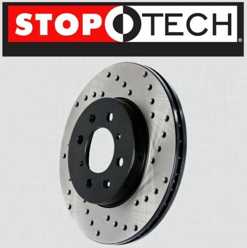 FRONT LEFT /& RIGHT Stoptech SportStop Cross Drilled Brake Rotors STCDF61072