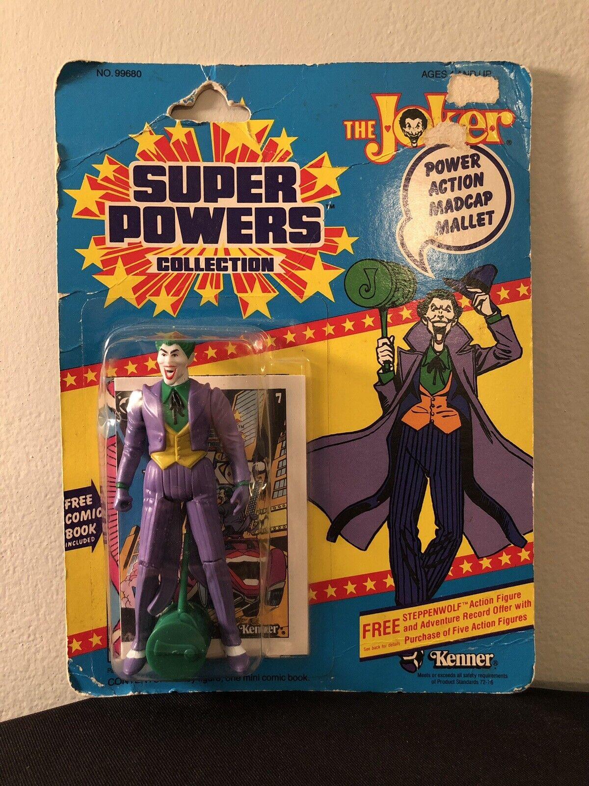 RARE Vintage Originale Kenner super poteri Joker    MOC 198412  indietro