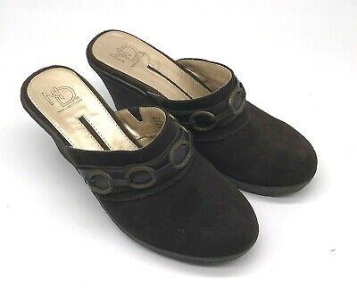 Slip On Wedge Brown Suede Shoes