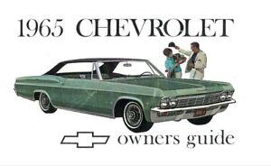 1965 chevrolet impala owners manual user guide reference operator rh ebay com 1967 Impala 1964 Impala