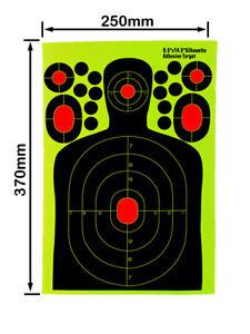 5-20PCS 9.5x14.5inch Adhesive Shooting Targets Gun Rifle Paper Reactive Splatter