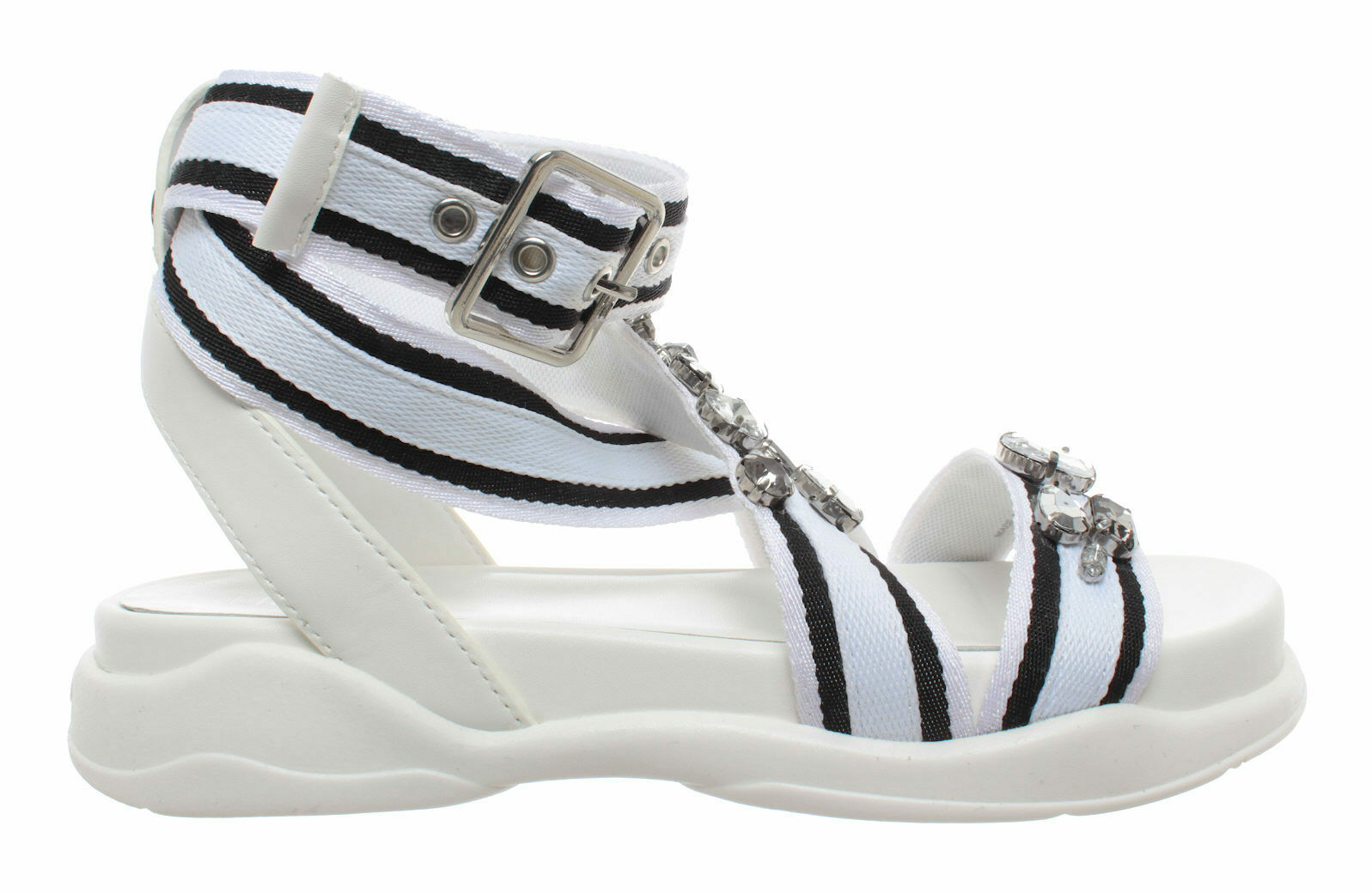 Skosandaler kvinnor liu jo milano stjärna 03 vita sandaler svart svart svart ny  incitament främjande