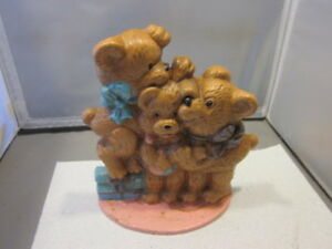 Image Is Loading VINTAGE Cast Iron Teddy Bear Door Stop Desk