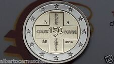 2 euro 2014 BELGIO 150 Croce Rossa Croix Rouge Red Cros belgique belgie belgium