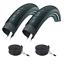 Pair-of-26-x-2-00-XLC-Big-X-Slick-Mountain-Bike-Tyres-amp-Inner-Tubes miniature 2