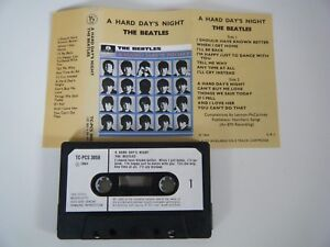 THE-BEATLES-A-HARD-DAY-039-S-NIGHT-CASSETTE-TAPE-1964-PAPER-LABEL-PARLOPHONE-EMI-UK