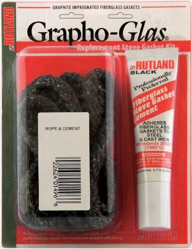 RUTLAND Grapho-Glas Stove Gasket Kit Black with Gasket Cement FREE USA SHIP!