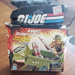 GI JOE 1985 AMMO DUMP UNIT 100% COMPLETE with BOX & PAPERWORK