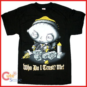 Official Family Guy Stewie Rockin/' Out T-Shirt Size M