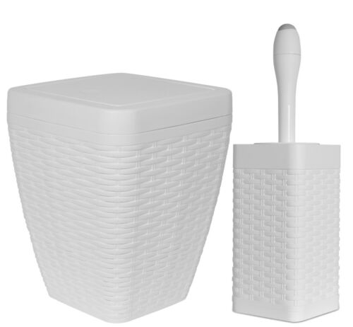 6.5 Qt Square Trash Can and Toilet Bowl Brush