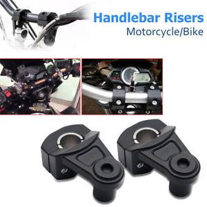 Pair-Universal-7-8-039-039-22mm-Motorcycle-HandleBar-Handle-Fat-Bar-Mount-Clamps-Riser
