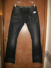 NWT CULT OF INDIVIDUALITY BLACK REBEL STRAIGHT JAPANESE DENIM JEANS SIZE 30 X 33