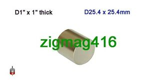 2-pcs-of-Grade-N52-D1-034-x-1-034-thick-Rare-Earth-Neodymium-Cylinder-Magnets