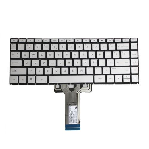 Silver HP Pavilion X360 14-BA 14T-BA 14M-BA 14-BS Laptop Keyboard Backlit CD-USA