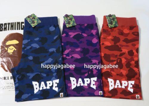 BATHING APE Men/'s COLOR CAMO SWEAT SHORTS Pants 3colors Japan New * S-2XL