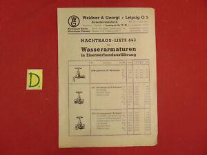 Nachdenklich Nachtrags-liste 643 Für Wasserarmaturen In Eisenverbundausführung 1943 Sonstige Sonstige