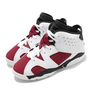 Details about Nike Jordan 6 Retro PS VI Carmine White Black Kid Preschool Shoes AJ6 384666-106