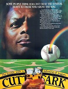 1982-Baseball-Star-Curt-Flood-photo-Cutty-Sark-Scotch-on-the-Rocks-print-ad