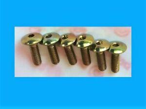DUCATI-888-UPPER-FAIRING-SHOULDERED-ORIGINAL-BOLT-SET-6-ZINC-GOLD-20MM-LONG