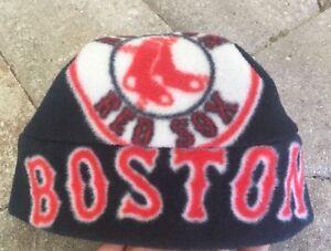 Boston Red Sox Baseball Fleece Hat Handmade Size 6-12 mo Boys Girls ... 8e621765a4e