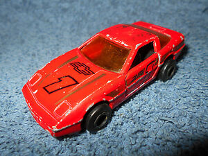 MAJORETTE #1 RED CHEVY CORVETTE ZR 1:57 DIECAST CAR #215 268 OPENING DOORS NICE