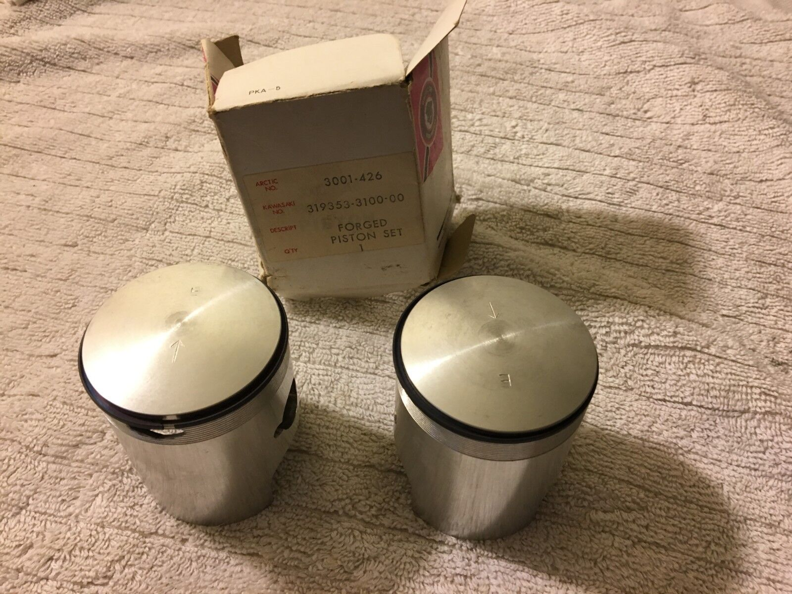 Vintage Arctic Cat NOS '73 Formula  II Mod Kit Pistons 295RX 2B  fast shipping to you