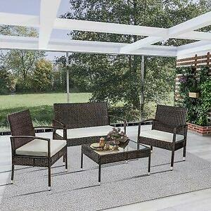 Latitude Run Balbir 4 Piece Rattan Sofa Seating Group with Cushions Anniversary Sale (Up to 60% Off) Canada Preview