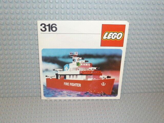 LEGO ® Classic Town de recette 316 Fire Fire Fire Fighter Ship instruction b1028 5e6520