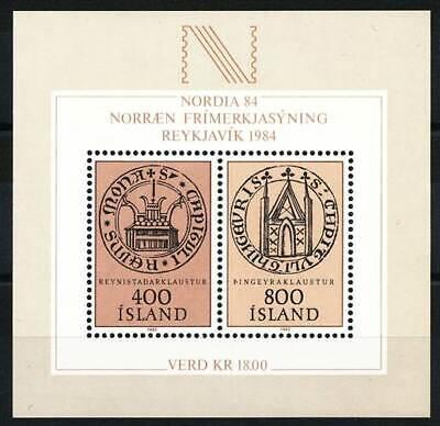 Briefmarkenausst Nordia 84 Island Block 4** Int 243913