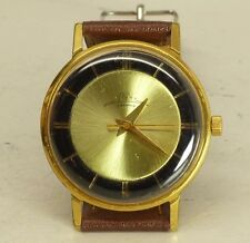 LUCH slim as Poljot de luxe USSR wristwatch 2209 cal Gold plated Au10 23 j