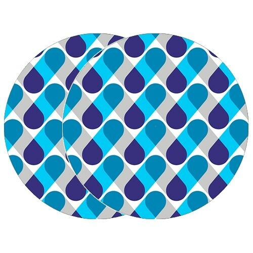 "1 Pair Pillz Blue 12"" Dj Turntable Slipmats"