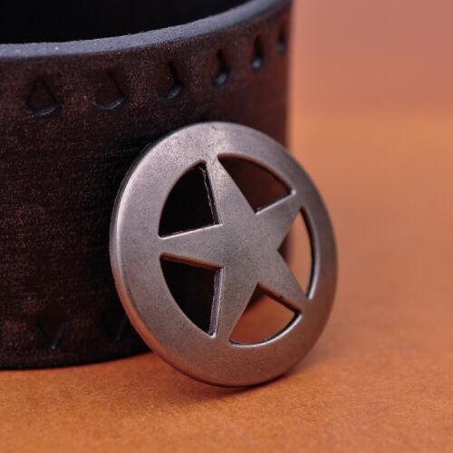 10PCS 31 MM ANTIQUE SILVER WESTERN COWBOY ROCK STAR CONCHOS RIVETBACK FOR CRAFT