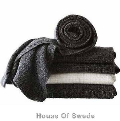 IKEA Throw Rug Knee Blanket Bed Couch Sofa GURLI BLACK GREY Modern New