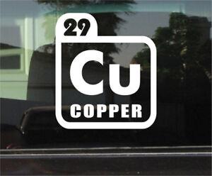 Copper periodic table symbol vinyl decal sticker ebay image is loading copper periodic table symbol vinyl decal sticker urtaz Choice Image