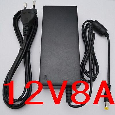 AC 100V-240V Converter Adapter DC 12V 8A 96W Power Supply 5.5mm 8000mA LED CCTV