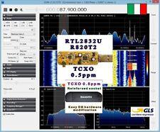 RTL2832U R820T2 RICEVITORE SCANNER HAM RADIO SDR 14-1900MHZ CON QUARZO TCXO SMD