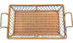 """2 Kitchen Table Top Accessory Bread Tray Basket With Handle 8/""""x10/"""" Assorted NEW"""